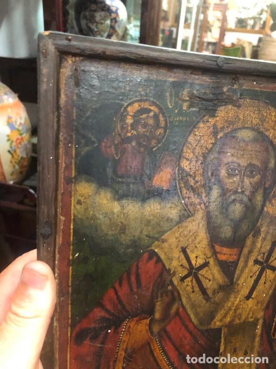 Arte: ESPECTACULAR OLEO SOBRE TABLA SIGLO XVIII - ESCENA RELIGIOSA - MEDIDA 32X25 CM - Foto 11 - 217556288
