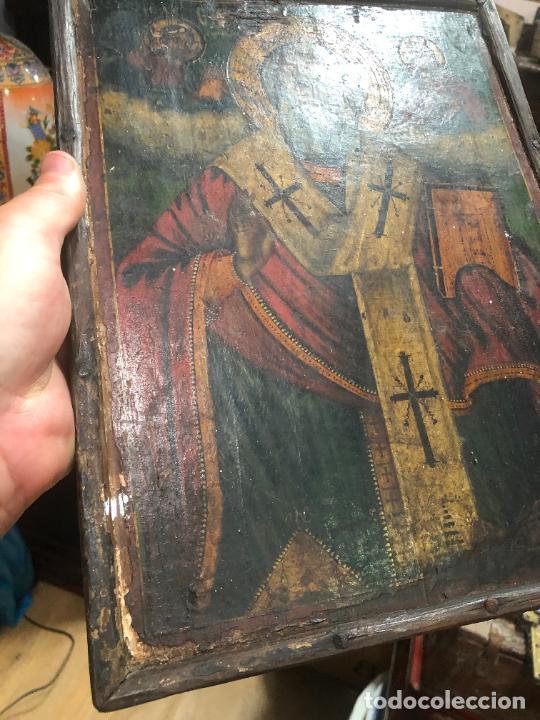 Arte: ESPECTACULAR OLEO SOBRE TABLA SIGLO XVIII - ESCENA RELIGIOSA - MEDIDA 32X25 CM - Foto 12 - 217556288