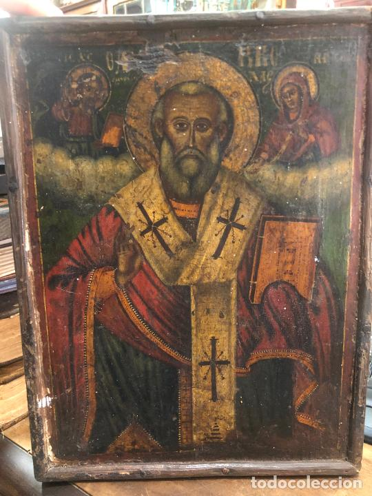 ESPECTACULAR OLEO SOBRE TABLA SIGLO XVIII - ESCENA RELIGIOSA - MEDIDA 32X25 CM (Arte - Arte Religioso - Pintura Religiosa - Oleo)
