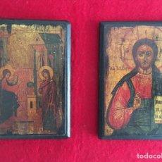Arte: LOTE DE ICONOS RELIGIOSOS ANTIGUOS.LAMINA SOBRE MADERA. S.XX. Lote 217585172