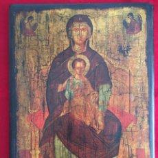 Arte: PRECIOSO Y ANTIGUO ICONO RELIGIOSO. LAMINA SOBRE MADERA. S.XX. Lote 217585401