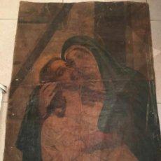 Arte: (M-R/C) PALOL DE REVARDIT - ANTIGUO LIENZO TELA RELIGIOSA PINTADO AL OLEO VIRGEN DE LOS DOLORES -. Lote 217687812