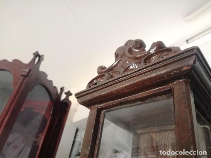 CAPILLA CON REMATE SUPERIOR SXVIII (Arte - Arte Religioso - Escultura)