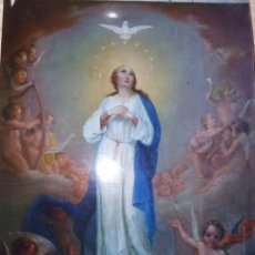 Arte: ESCUELA ESPAÑOLA S.XVIII INMACULADA OLEO SOBRE LIENZO.. Lote 217847015