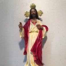 Arte: SAGRADO CORAZON DE ESTUCO ARTE MODELO OLOT. NUEVO. 42CM.. Lote 217879277