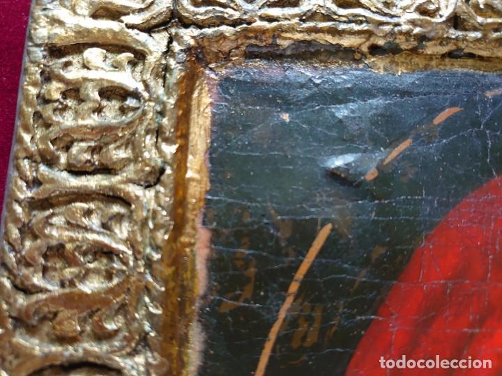 Arte: ICONO RUSO VIRGEN ELEUSA TABLA SIGLO XVIII - Foto 13 - 217889543