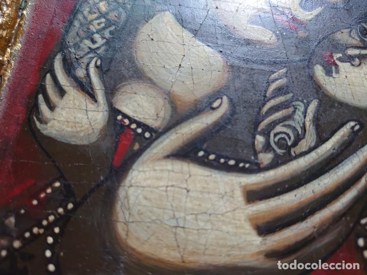 Arte: ICONO RUSO VIRGEN ELEUSA TABLA SIGLO XVIII - Foto 7 - 217889543