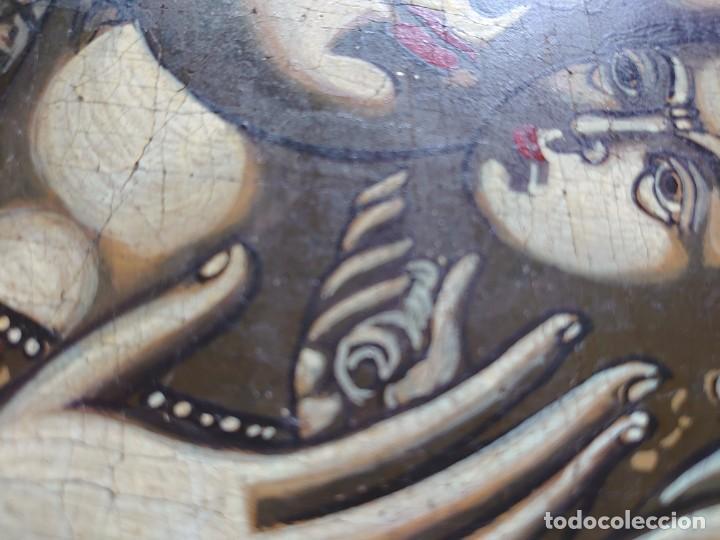 Arte: ICONO RUSO VIRGEN ELEUSA TABLA SIGLO XVIII - Foto 9 - 217889543