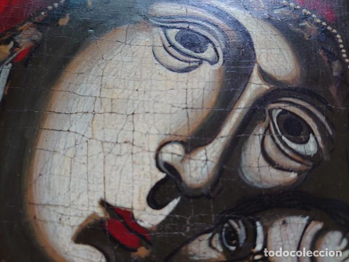 Arte: ICONO RUSO VIRGEN ELEUSA TABLA SIGLO XVIII - Foto 4 - 217889543