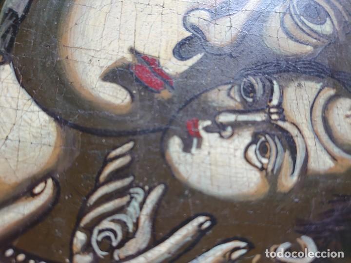 Arte: ICONO RUSO VIRGEN ELEUSA TABLA SIGLO XVIII - Foto 10 - 217889543