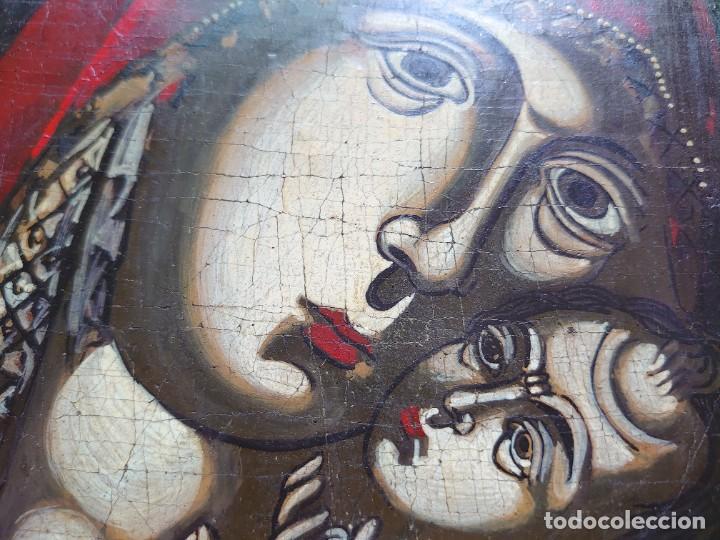 Arte: ICONO RUSO VIRGEN ELEUSA TABLA SIGLO XVIII - Foto 6 - 217889543