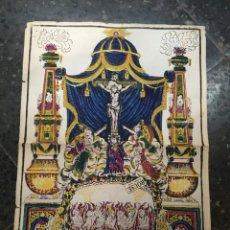 Arte: ANTIGUO GRABADO COLOREADO A MANO S. XVIII-XIX - O ELS QUE PASSEU PER AQUEST CAMI PAREU I MIREU SI. Lote 217896351