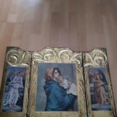 Art: TRIPTICO VIRGEN MARIA,JESÚS Y A GELES CUSTODIOS. VER DESCRIPCIÓN. Lote 217970910