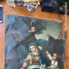 Art: IMPRESIONANTE OLEO RELIGIOSO SIGLO XIX. R. Lote 218054712