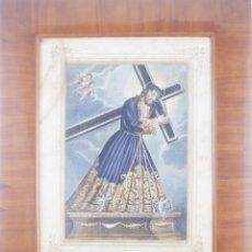 Arte: CRISTO NAZARENO GRAN PODER - GRAN FORMATO - EXCELENTE MARCO ÉPOCA. Lote 218135535