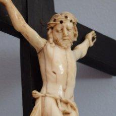 Arte: CRISTO CRUCIFICADO. ESCULTURA DE LA ESCUELA EUROPEA DE LOS SIGLOS XVIII-XIX.. Lote 218159548