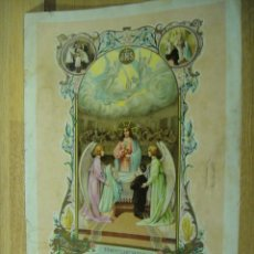 Arte: RECUERDO DE PRIMERA COMUNION - LAMINA ILUSTRADA POR A. FEMENIA , AÑO 1911. Lote 218186637