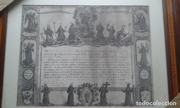 GRABADO DE LOS FRANCISCANOS HOSPITALARIOS (Arte - Arte Religioso - Grabados)