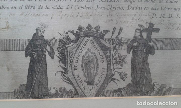 Arte: Grabado de los Franciscanos Hospitalarios - Foto 3 - 218187950