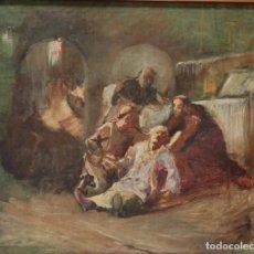 Arte: ESCENA RELIGIOSA. IMPRESIONISMO FRANCÉS. HACIA 1900. MEDIDAS DE 44 X 36 CM.. Lote 218250411