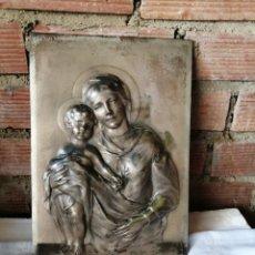 Arte: LA VIRGEN Y NIÑO JESÚS - CUADRO. Lote 218285952