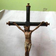 Arte: MUY ANTIGUA Y GRANDE CRUZ CON JESUCRISTO , FINAL SIGLO XIX , MADERA. Lote 218421976