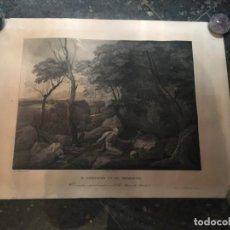 Arte: ANTIGUA LITOGRAFIA - SN. GERONIMO EN EL DESIERTO EL CUADRO ORIGINAL EXISTE EN EL R. MUSEO DE MADRID. Lote 218520627