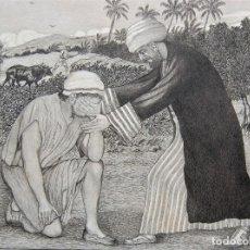 Arte: DIBUJO ORIGINAL: PARÁBOLA DEL HIJO PRÓDIGO POR DAVID HARKNESS ( ACTIVO 1950'S ). Lote 218523832