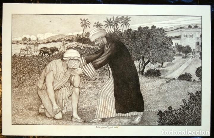 Arte: DIBUJO ORIGINAL: PARÁBOLA DEL HIJO PRÓDIGO por David Harkness ( activo 1950s ) - Foto 2 - 218523832