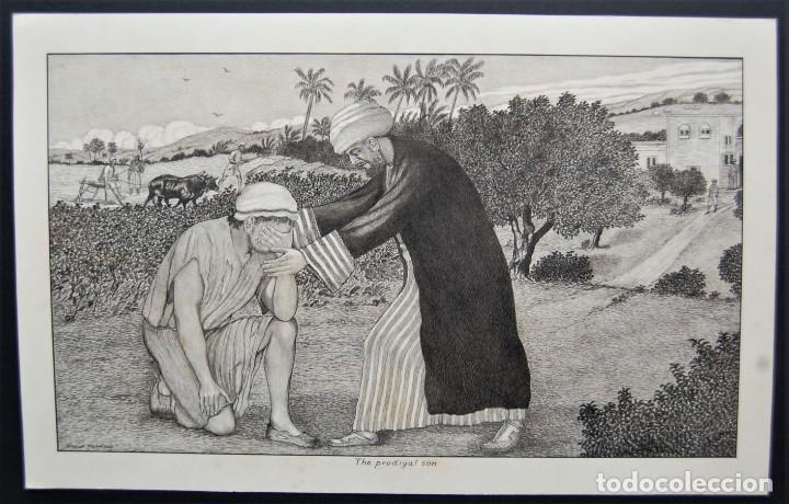 Arte: DIBUJO ORIGINAL: PARÁBOLA DEL HIJO PRÓDIGO por David Harkness ( activo 1950s ) - Foto 3 - 218523832