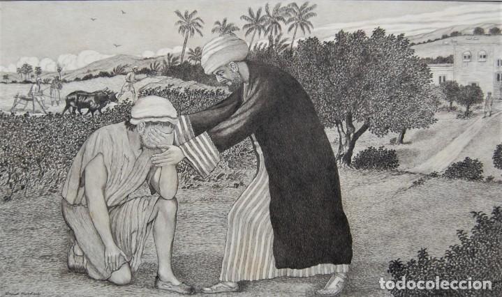 Arte: DIBUJO ORIGINAL: PARÁBOLA DEL HIJO PRÓDIGO por David Harkness ( activo 1950s ) - Foto 5 - 218523832