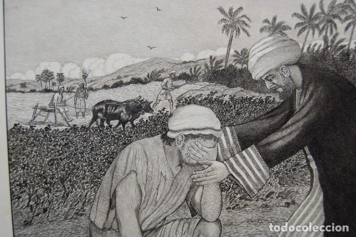Arte: DIBUJO ORIGINAL: PARÁBOLA DEL HIJO PRÓDIGO por David Harkness ( activo 1950s ) - Foto 6 - 218523832