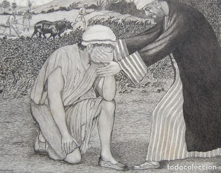 Arte: DIBUJO ORIGINAL: PARÁBOLA DEL HIJO PRÓDIGO por David Harkness ( activo 1950s ) - Foto 8 - 218523832
