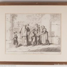 Arte: EREMITA CHE FA BAGIARE UNA RELIQUIA - PINELLEI - 1815. Lote 218712600