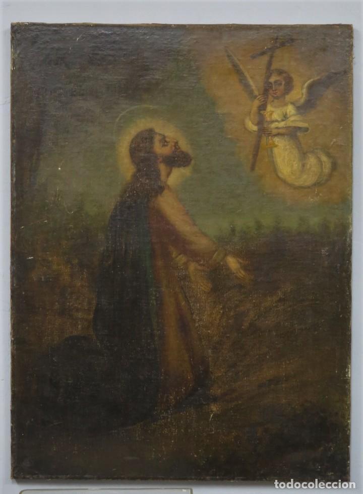 LA ORACION EN EL HUERTO. OLEO S/ LIENZO. SIGLO XVIII (Arte - Arte Religioso - Pintura Religiosa - Oleo)