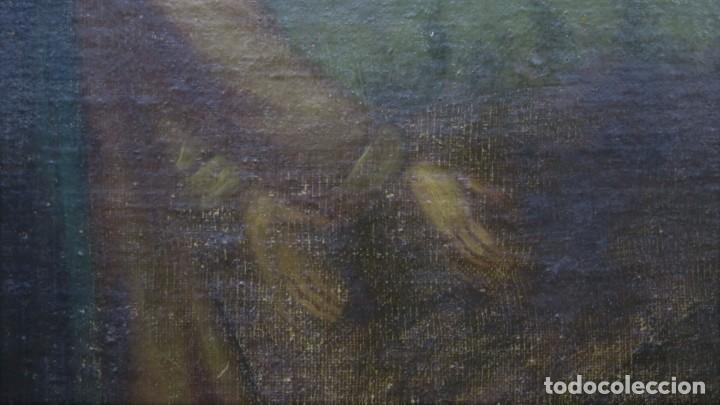 Arte: LA ORACION EN EL HUERTO. OLEO S/ LIENZO. SIGLO XVIII - Foto 7 - 218758713