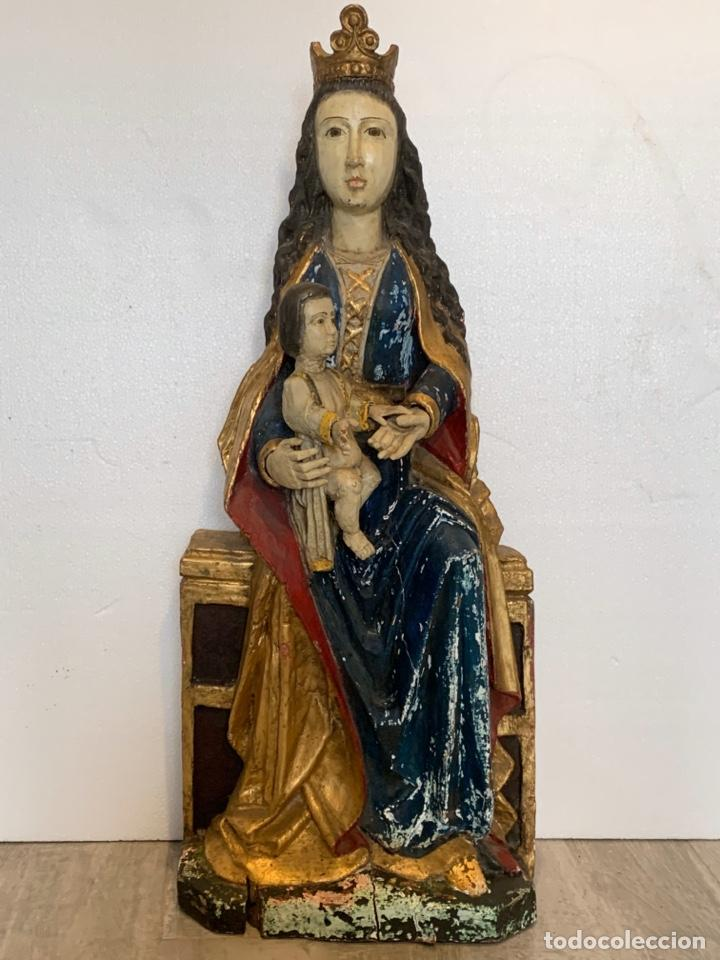TALLA DE MADERA VIRGEN CON NIÑO (Arte - Arte Religioso - Escultura)