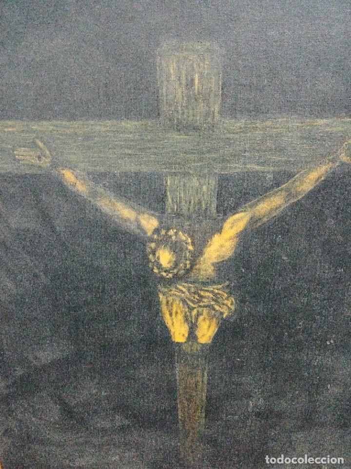 Arte: Pintura sobre Tablex Crucifixión de Jesús firmado - Foto 6 - 218807387