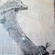 Arte: MAPA DE LAS ENSENADAS DE JÁVEA Y PORTICHOL 1879. Lote 218887636