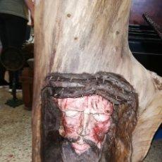 Arte: TALLA DE MADERA DE JESÚS.. JESUCRISTO. Lote 218990757
