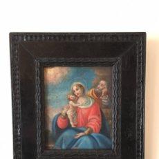 Arte: PINTURA ANTIGUA RELIGIOSA - ÓLEO SOBRE COBRE. Lote 219041597