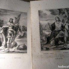 Arte: 2 ANTIGUAS LITOGRAFIA SAN JUAN Y SAN FERNANDO . ED TURGIS PARIS 44/30 CM GRABADO LITOGRAFICO SXIX. Lote 219103657