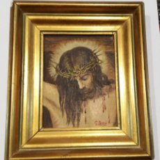 Arte: CUADRO CRISTO CRUCIFICADO - OLEO -. Lote 219215302