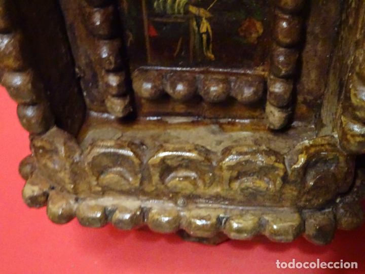 Arte: capilla colonial siglo XVIII oleo y madera policromada, Virgen Niña.retablo Hornacina - Foto 4 - 219239463