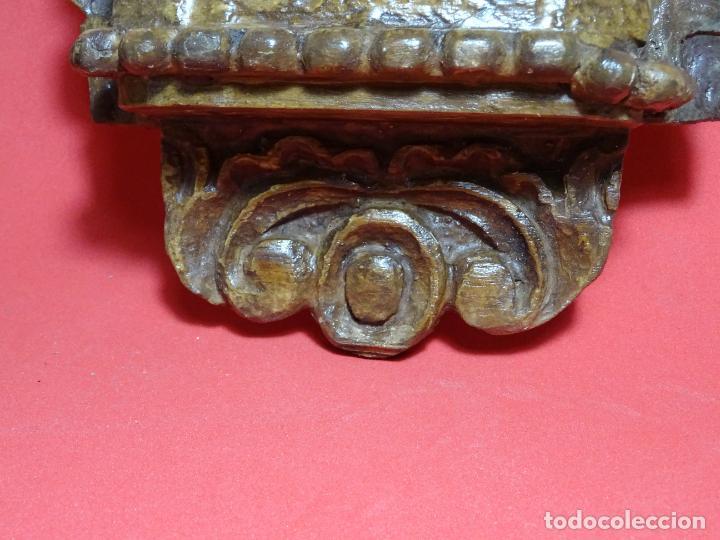 Arte: capilla colonial siglo XVIII oleo y madera policromada, Virgen Niña.retablo Hornacina - Foto 8 - 219239463