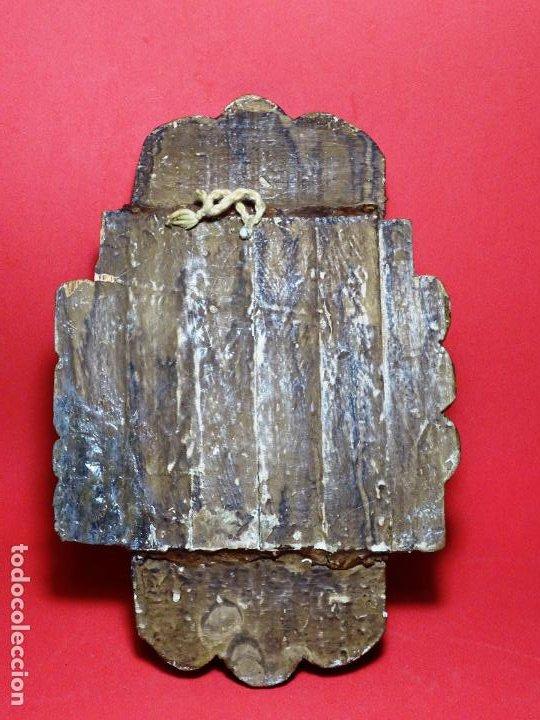 Arte: capilla colonial siglo XVIII oleo y madera policromada, Virgen Niña.retablo Hornacina - Foto 11 - 219239463