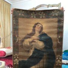 Arte: PINTURA RELIGIOSA VIRGEN DOLOROSA SIGLO XVII.XVIII . VER FOTOS.MIDE 95X70. Lote 219249081