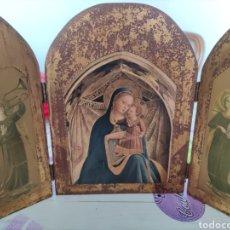 Arte: TRÍPTICO RELIGIOSO MADERA.. Lote 219283108