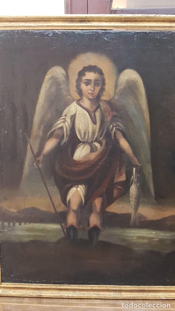 Arte: OLEO SOBRE TELA ANONIMO SAN TOBIAS SXVIII - Foto 2 - 219305281