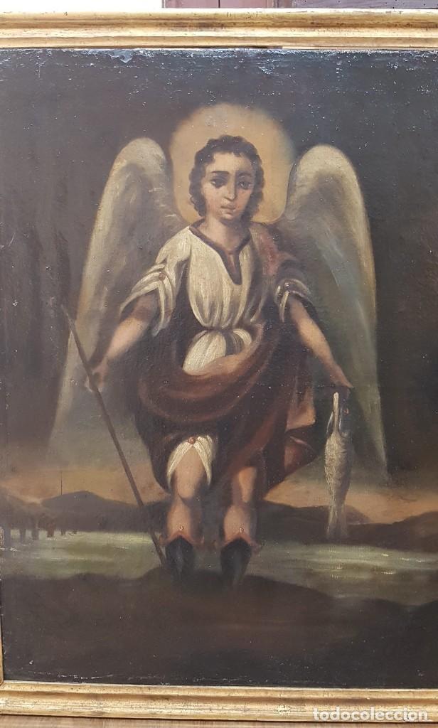 Arte: OLEO SOBRE TELA ANONIMO SAN TOBIAS SXVIII - Foto 3 - 219305281